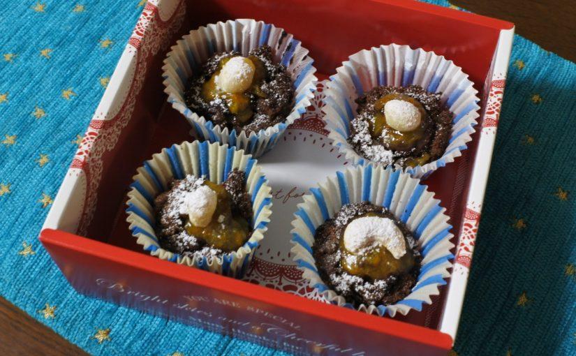 ダークチョコ&ママレードのカップケーキ